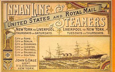 shp010217 - Anchor Line Ship Postcard Old Vintage Antique Post Card