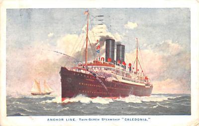 shp010219 - Anchor Line Ship Postcard Old Vintage Antique Post Card