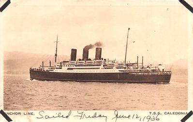 shp010221 - Anchor Line Ship Postcard Old Vintage Antique Post Card