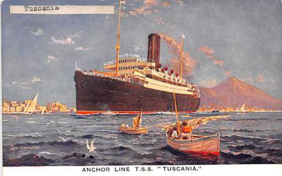 shp010223 - Anchor Line Ship Postcard Old Vintage Antique Post Card