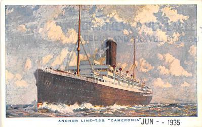shp010225 - Anchor Line Ship Postcard Old Vintage Antique Post Card