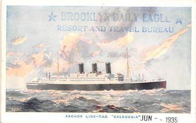 shp010231 - Anchor Line Ship Postcard Old Vintage Antique Post Card