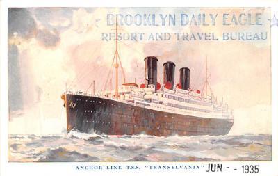 shp010233 - Anchor Line Ship Postcard Old Vintage Antique Post Card