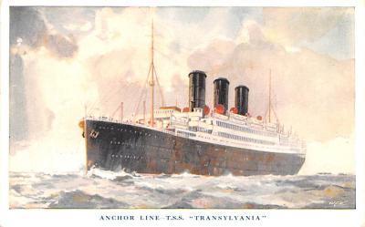 shp010237 - Anchor Line Ship Postcard Old Vintage Antique Post Card