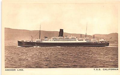 shp010239 - Anchor Line Ship Postcard Old Vintage Antique Post Card