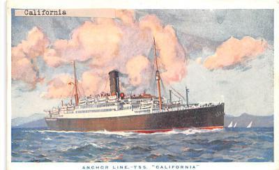 shp010241 - Anchor Line Ship Postcard Old Vintage Antique Post Card