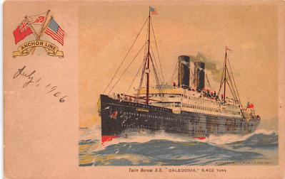 shp010243 - Anchor Line Ship Postcard Old Vintage Antique Post Card