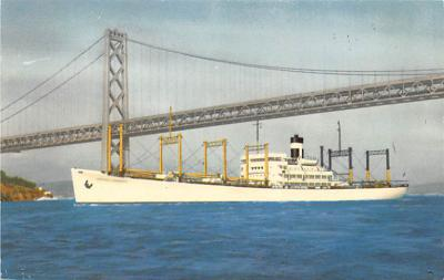 shp010259 - Freighter Shipping Postcard Old Vintage Antique Post Card