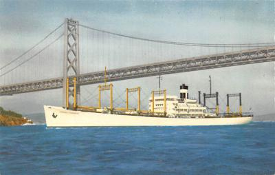 shp010261 - Freighter Shipping Postcard Old Vintage Antique Post Card