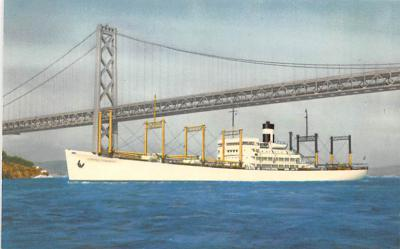 shp010263 - Freighter Shipping Postcard Old Vintage Antique Post Card