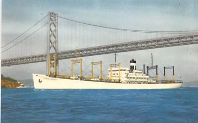 shp010265 - Freighter Shipping Postcard Old Vintage Antique Post Card