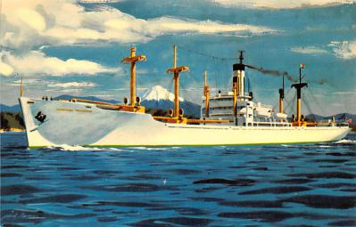 shp010271 - Freighter Shipping Postcard Old Vintage Antique Post Card