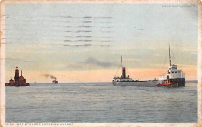 shp010279 - Freighter Shipping Postcard Old Vintage Antique Post Card