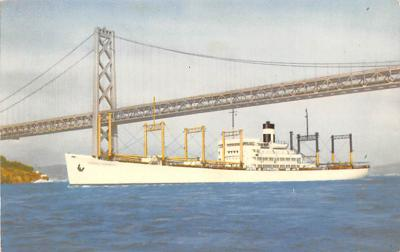 shp010281 - Freighter Shipping Postcard Old Vintage Antique Post Card