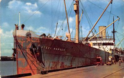 shp010289 - Freight Ship Postcard Old Vintage Antique Post Card