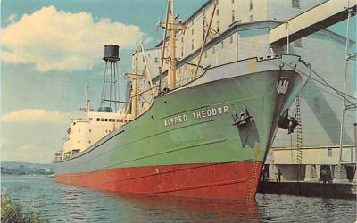 shp010295 - Freight Ship Postcard Old Vintage Antique Post Card