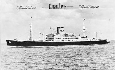 shp010305 - Freight Ship Postcard Old Vintage Antique Post Card