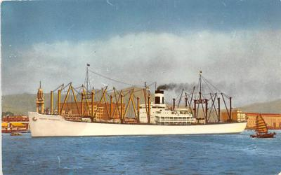 shp010307 - Freight Ship Postcard Old Vintage Antique Post Card