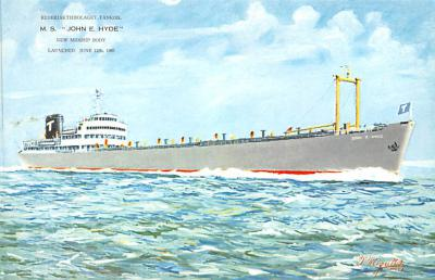 shp010329 - Freight Ship Postcard Old Vintage Antique Post Card
