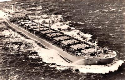 shp010333 - Freight Ship Postcard Old Vintage Antique Post Card