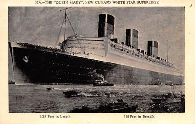 shp010385 - White Star Line Cunard Ship Post Card, Old Vintage Antique Postcard