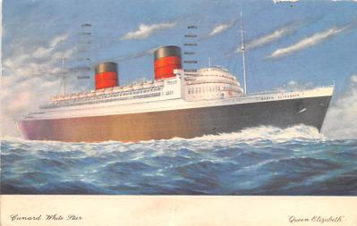 shp010389 - White Star Line Cunard Ship Post Card, Old Vintage Antique Postcard