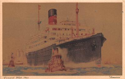 shp010391 - White Star Line Cunard Ship Post Card, Old Vintage Antique Postcard