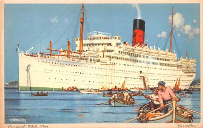 shp010393 - White Star Line Cunard Ship Post Card, Old Vintage Antique Postcard
