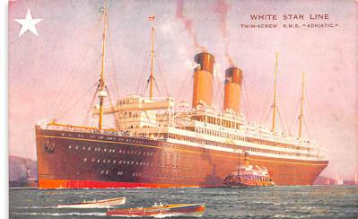 shp010395 - White Star Line Cunard Ship Post Card, Old Vintage Antique Postcard