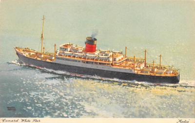 shp010405 - White Star Line Cunard Ship Post Card, Old Vintage Antique Postcard