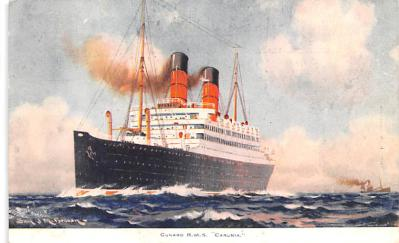 shp010407 - White Star Line Cunard Ship Post Card, Old Vintage Antique Postcard