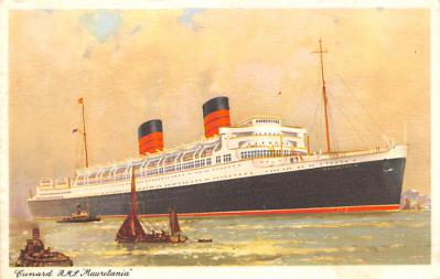 shp010415 - White Star Line Cunard Ship Post Card, Old Vintage Antique Postcard
