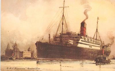 shp010419 - White Star Line Cunard Ship Post Card, Old Vintage Antique Postcard