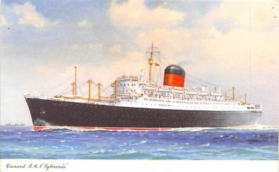 shp010423 - White Star Line Cunard Ship Post Card, Old Vintage Antique Postcard