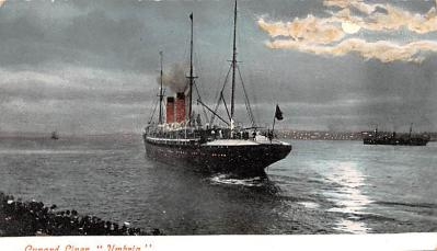 shp010435 - White Star Line Cunard Ship Post Card, Old Vintage Antique Postcard