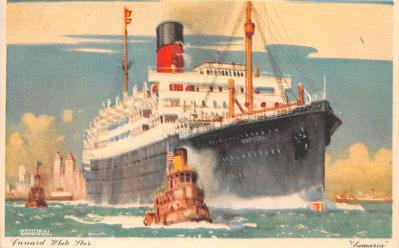 shp010437 - White Star Line Cunard Ship Post Card, Old Vintage Antique Postcard