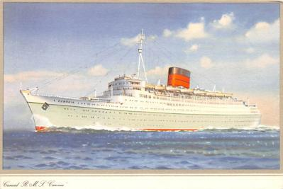shp010439 - White Star Line Cunard Ship Post Card, Old Vintage Antique Postcard