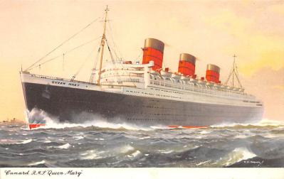 shp010443 - White Star Line Cunard Ship Post Card, Old Vintage Antique Postcard