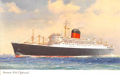 shp010447 - White Star Line Cunard Ship Post Card, Old Vintage Antique Postcard