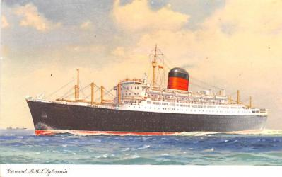shp010455 - White Star Line Cunard Ship Post Card, Old Vintage Antique Postcard
