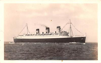 shp010461 - White Star Line Cunard Ship Post Card, Old Vintage Antique Postcard