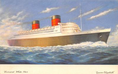 shp010467 - White Star Line Cunard Ship Post Card, Old Vintage Antique Postcard