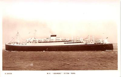 shp010473 - White Star Line Cunard Ship Post Card, Old Vintage Antique Postcard
