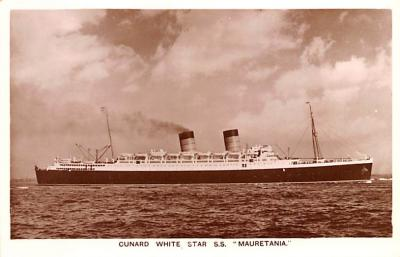 shp010475 - White Star Line Cunard Ship Post Card, Old Vintage Antique Postcard