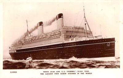 shp010483 - White Star Line Cunard Ship Post Card, Old Vintage Antique Postcard