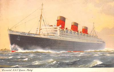 shp010493 - White Star Line Cunard Ship Post Card, Old Vintage Antique Postcard
