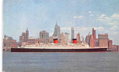 shp010497 - White Star Line Cunard Ship Post Card, Old Vintage Antique Postcard