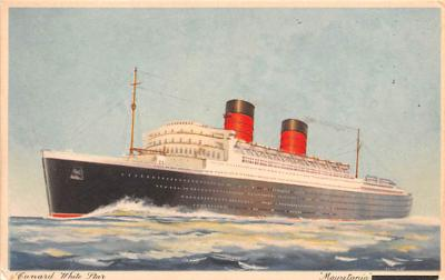 shp010509 - White Star Line Cunard Ship Post Card, Old Vintage Antique Postcard