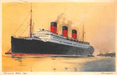 shp010513 - White Star Line Cunard Ship Post Card, Old Vintage Antique Postcard