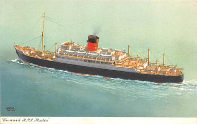shp010515 - White Star Line Cunard Ship Post Card, Old Vintage Antique Postcard